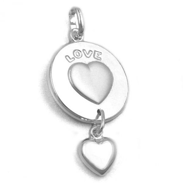 Anhänger, LOVE eingraviert, Silber 925