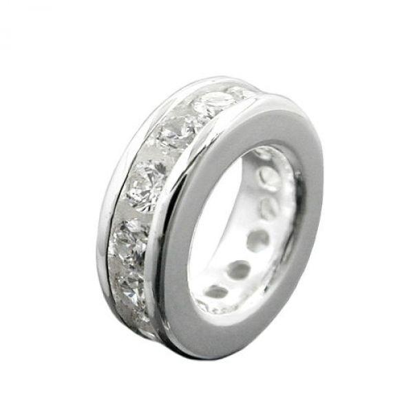 Anhänger, Taufring Zirkonia, Silber 925