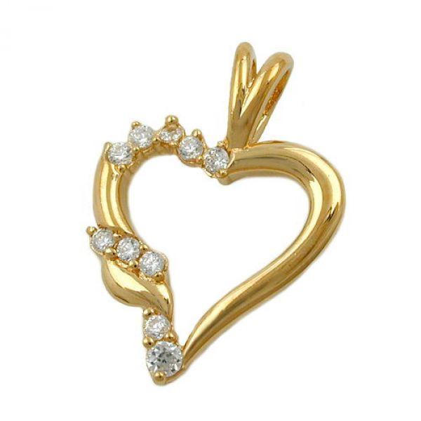Anhänger Herz vergoldet 3 Micron