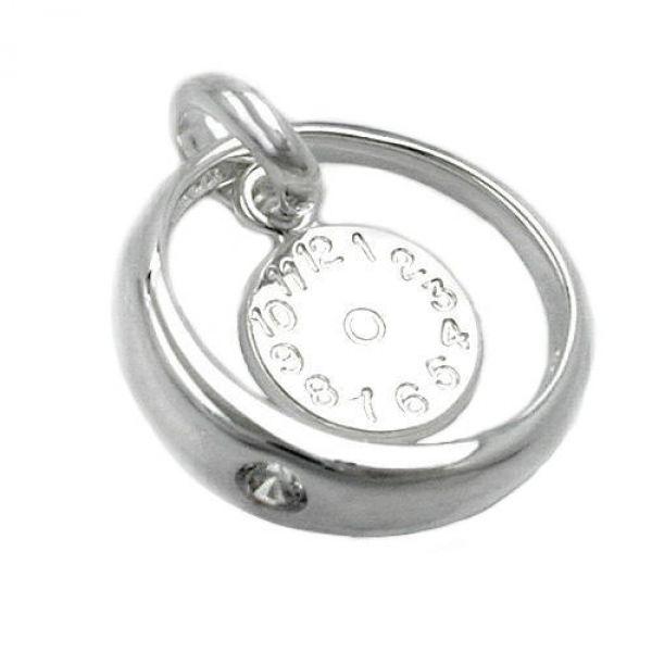 Anhänger Taufring Geburtsuhr Silber 925