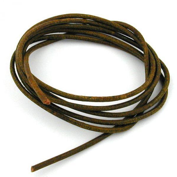 Band, Rindsleder gefärbt, oliv-khaki 100cm