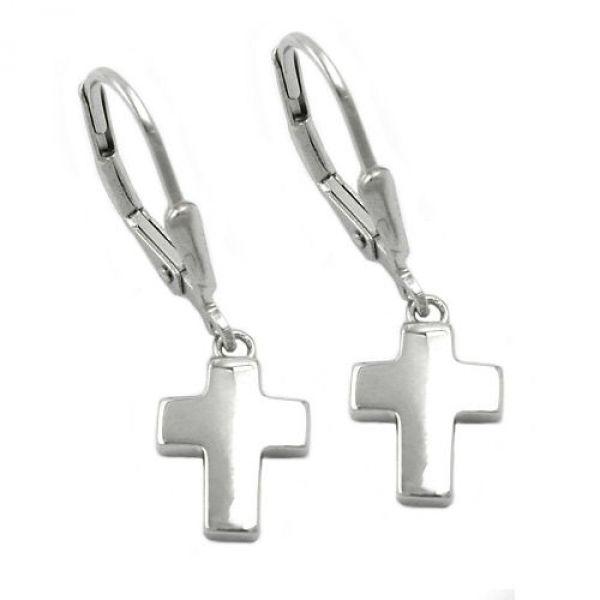Brisur, kleines Kreuz, Silber 925