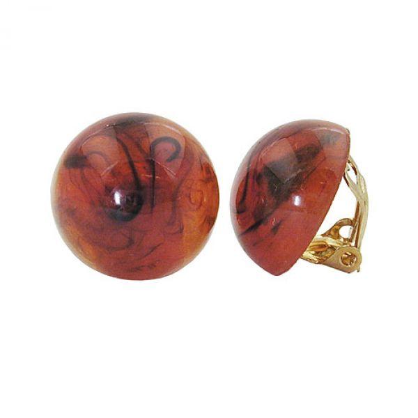 Clip, 18mm, braun-marmoriert-glänzend