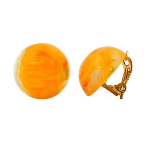 Clip, 18mm, gelb-orange-weiß marmoriert