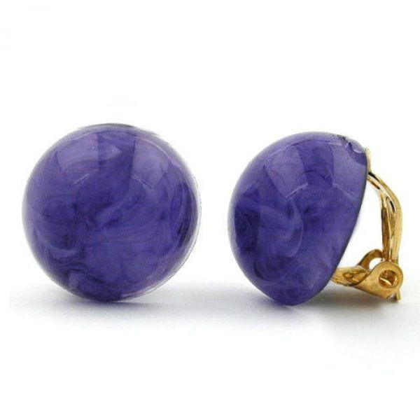Clip, 18mm, lila-marmoriert-glänzend