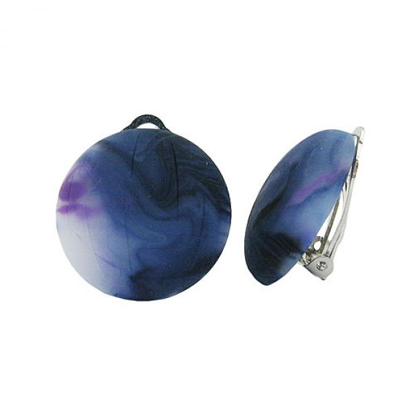 Clip, 22mm, Riss, blau-violett-matt