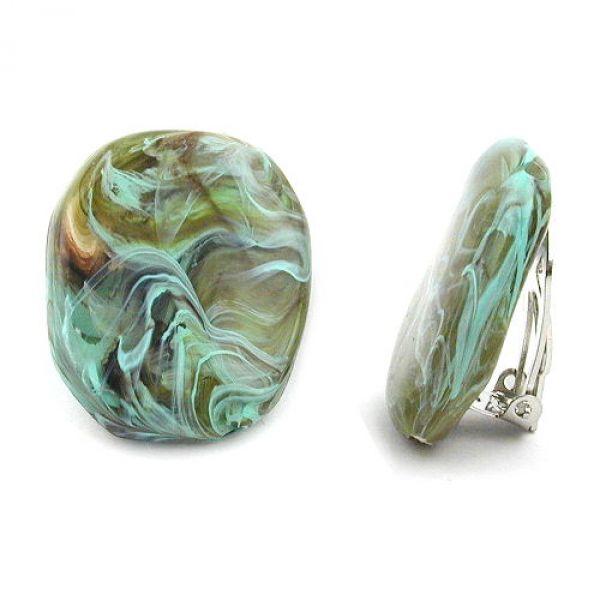 Clip, Kiesel, oliv-braun-türkis-marmor