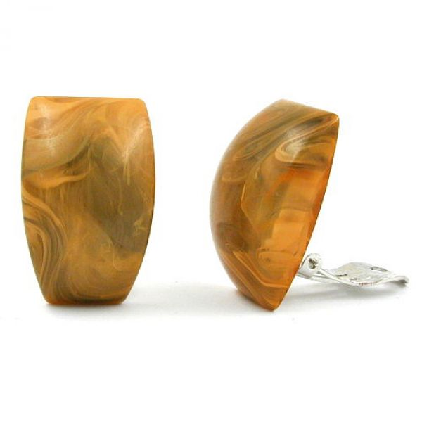 Clip, Trapez, ocker-marmoriert-glänzend