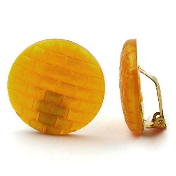 Clip, Waffelmuster perlmutt-gelborange