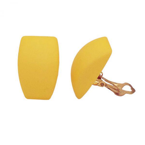 Clip, Trapez, gelb-matt