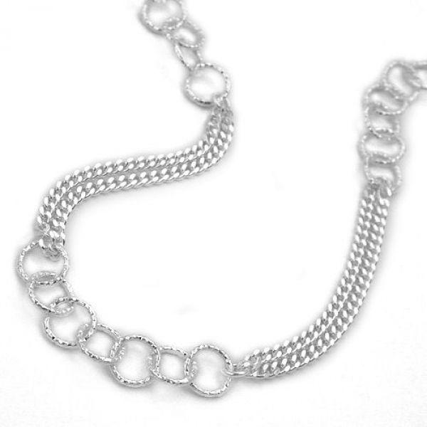Collier, Fantasie, Silber 925 45cm