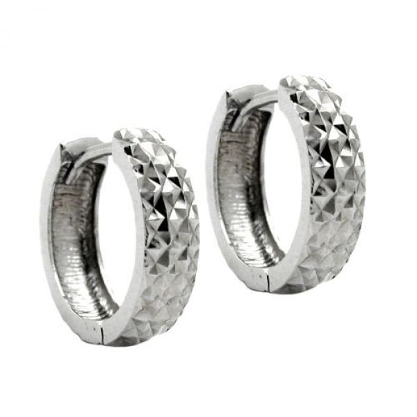 Creole diamantiert rhodiniert Silber 925