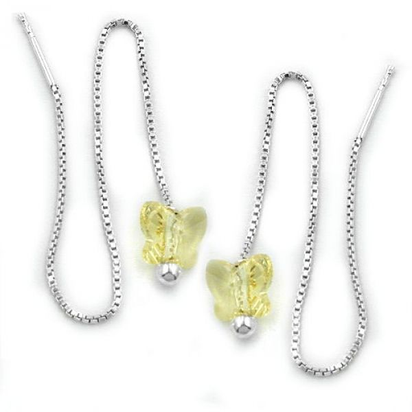 Durchzieher, Schmetterling, Silber 925