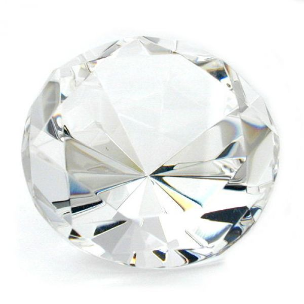 Glasstein, Form Diamant, kristall klar
