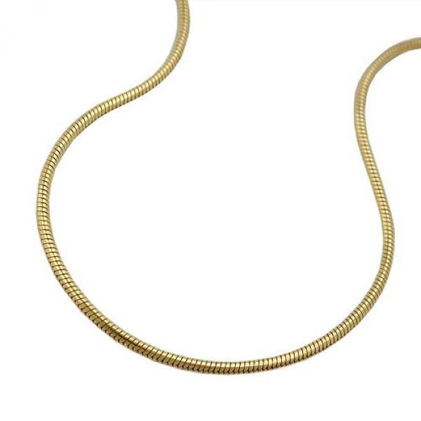 Kette, 45cm, Schlange, 0,7mm, 14Kt GOLD