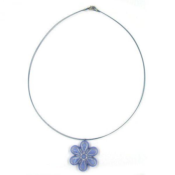 Kette, Blüte blau-silber