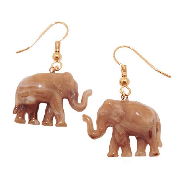 Ohrhaken, Elefant mini braun