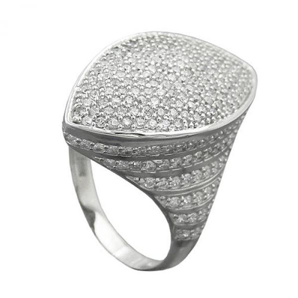 Ring mit vielen Zirkonias, Silber 925