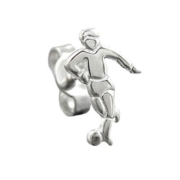 Stecker, Fußballspieler, Silber 925