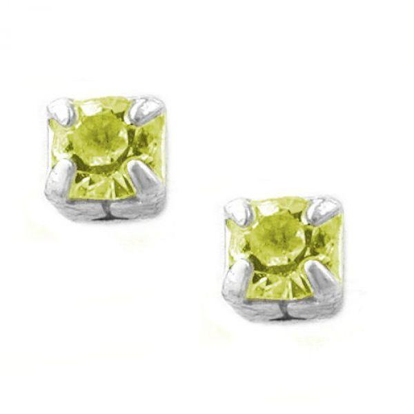Stecker, Mini-Viereck gelbton Silber 925