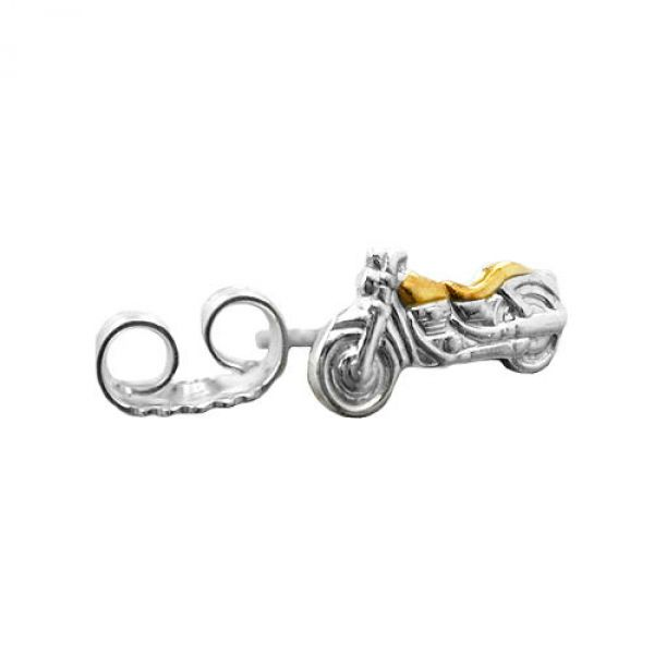 Stecker, Motorrad bicolor, 1 Stück, 925
