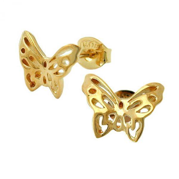 Stecker Schmetterling vergoldet 3 Micron