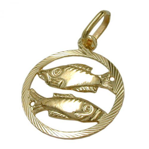 Sternzeichen, Fische, 9Kt GOLD