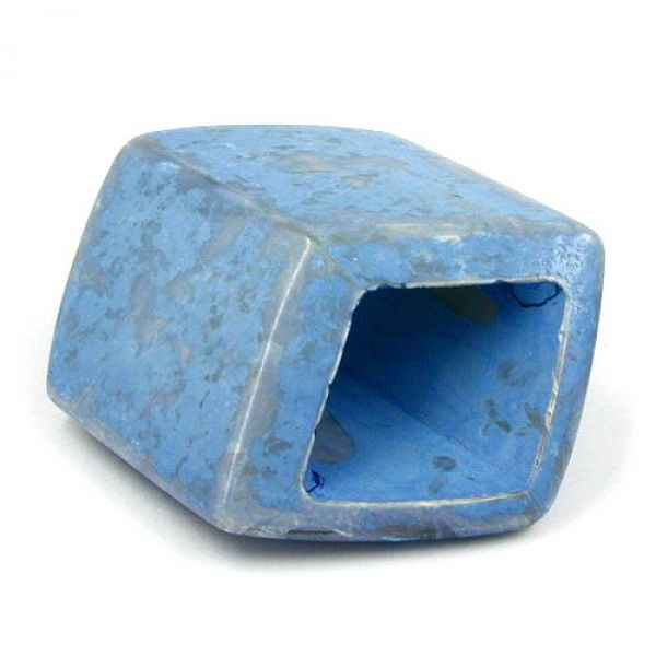 Tuchring, Sechseck, jeans-blau keramik