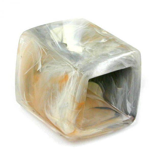 Tuchring, Sechseck grau-beige marmoriert