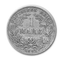 Deutsches Kaiserreich - 1 Mark (Diverse) - ca. 5g Silber
