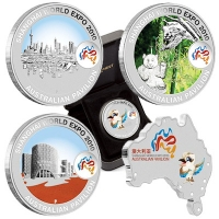 Australien - 5 AUD Shanghai World Expo Set - 5 * 1 Oz Silber