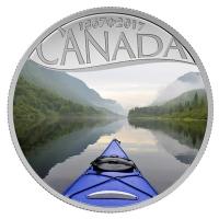 Kanada - 10 CAD 150 Jahre Kanada Kajakfahren 2016 - Silbermünze