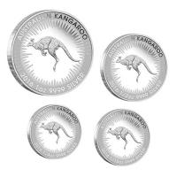 Australien - 1,85 AUD PerthMint Känguru 2016 - 4-Coin-Set Silber Proof