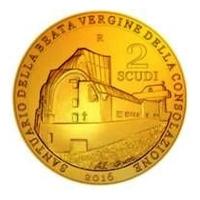 San Marino - 2 Scudi Goldscudi Heilige Jungfrau - Goldmünze PP