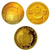 San Marino - 20+50 EUR Arch. Elemente 2016 - Goldmünzen PP
