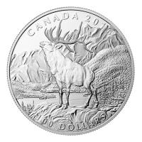 Kanada - 100 CAD $100 for $100 Elch 2016 - 1 Oz Silber