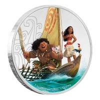 Niue - 2 NZD Disney Moana 2017 - 1 Oz Silber