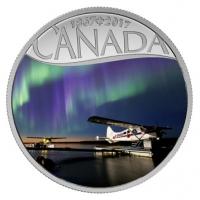 Kanada - 10 CAD 150 Jahre Kanada Wasserflugzeuge 2017 - Silbermünze