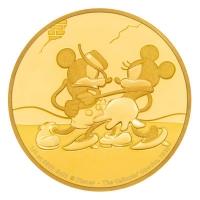 Niue - 25 NZD Disney Mickey Mouse Gallopin Gaucho 2017 - 1/4 Oz Gold