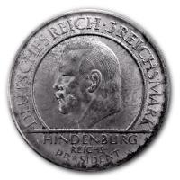 Deutsches Reich - 3 Reichsmark Hindenburg Verfassung 1929 - Silbermünze