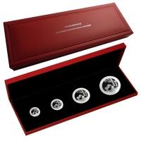 China - Show Panda Set Numismata München 4-Coin-Set - 1,85 Oz Silber