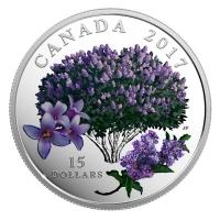 Kanada - 15 CAD Lila Flieder 2017 - Silbermünze PP