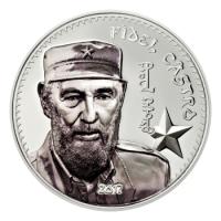 Mongolei - Fidel Castro 2017 - 1 Oz Silber PP