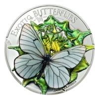 Mongolei - 1.000 Togrog Schmetterling in 3D 2017 - Silbermünze