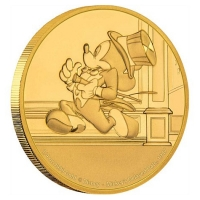 Niue - 25 NZD Disney Mickey Mouse Delayed Date 2017 - 1/4 Oz Gold