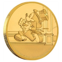 Niue - 250 NZD Disney Mickey Mouse Delayed Date 2017 - 1 Oz Gold