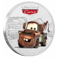 Niue - 2 NZD Disney Pixar Cars Tow Mater 2017 - 1 Oz Silber
